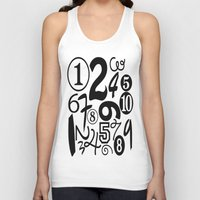 numbers Tank Tops featuring Numbers by Sweet Colors Gallery
