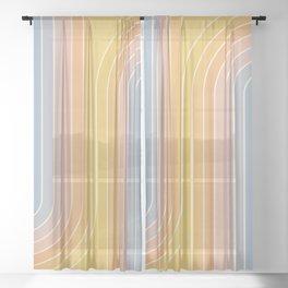Gradient Curvature III Sheer Curtain