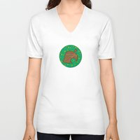animal crossing V-neck T-shirts featuring Animal Crossing Spring Grass by Rebekhaart