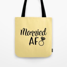 Married AF - Light Yellow Tote Bag