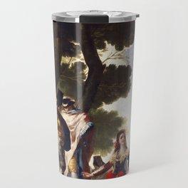 "Francisco Goya ""The Maja and the Cloaked Men or A Walk through Andalusia"" Travel Mug"