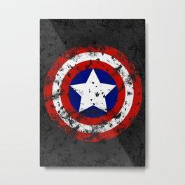 Captain's Shield Metal Print