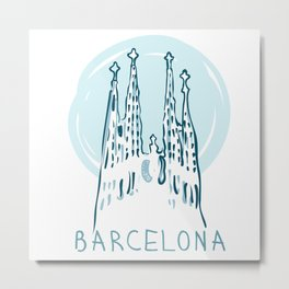 Barcelona 01 Metal Print