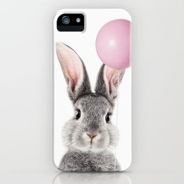 Bunny With Balloon iPhone Case
