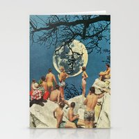 the moon Stationery Cards featuring Moon by Ben Giles