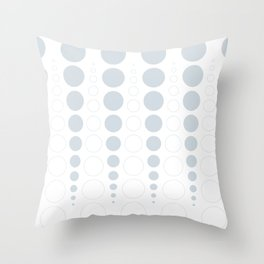 Up and down polka dot pattern in white and a pale icy gray Throw Pillow