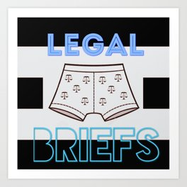 legal briefs Art Print