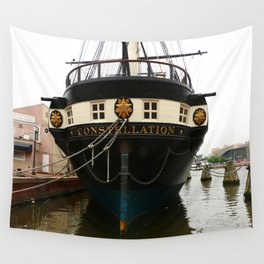 USS Constellation Detail Wall Tapestry