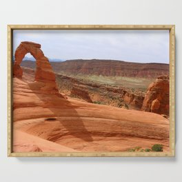 Delicate Arch A Famous Landmark Serving Tray
