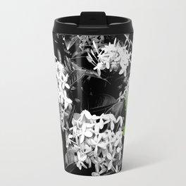 Ixoras in Black & White Travel Mug