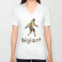 bigfoot V-neck T-shirts featuring Bigfoot Predator by D-fens
