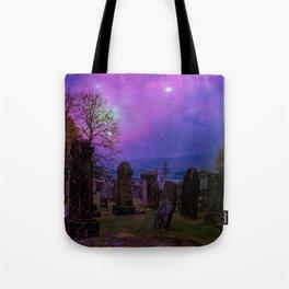 Graveyard Rising of the Spirits at Dusk Tote Bag