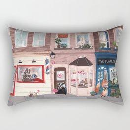Lemur street Rectangular Pillow