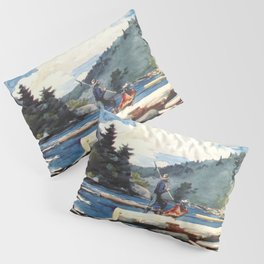 Hudson River Logging 1897 By WinslowHomer | Reproduction Pillow Sham