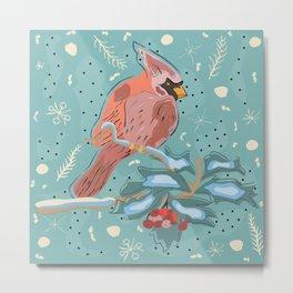 Majestic Red Cardinal Metal Print