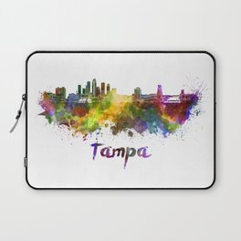 Tampa skyline in watercolor Laptop Sleeve