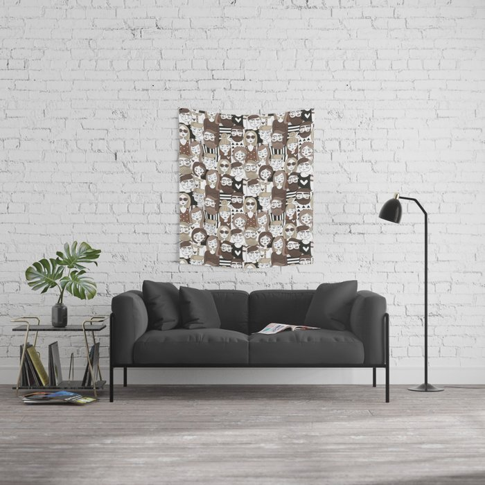 Crowd Pattern Wall Tapestry