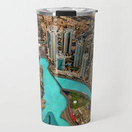 Views from Burij Khalifa in Dubai Travel Mug