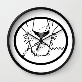 Lion Mouth Outline Wall Clock