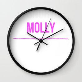 Snort Molly - Funny Sesh Gremlin Wall Clock
