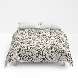 Vine seamless background Comforters
