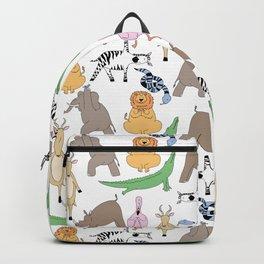 safari animal yoga Backpack