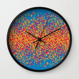 Tiny colorful spheres Wall Clock