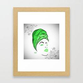 Lady Wrap (green) Framed Art Print