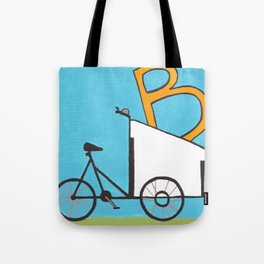 B is for Boxcycle Tote Bag