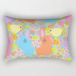 Bunnies and Friends Rectangular Pillow