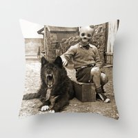 friendship Throw Pillows featuring Friendship by Seamless