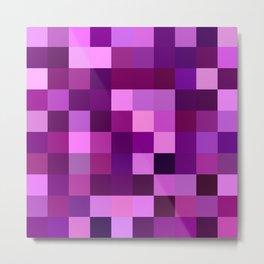 Deep purple mosaic Metal Print