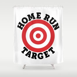 Home Run Target Shower Curtain