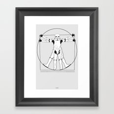 Vitruvian Stormtrooper Framed Art Print
