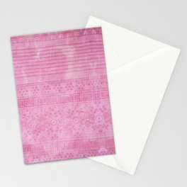 Romantic pink painting Stationery Cards