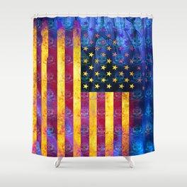 Bitter Poison Skulls: (Flag Exclusion) Shower Curtain