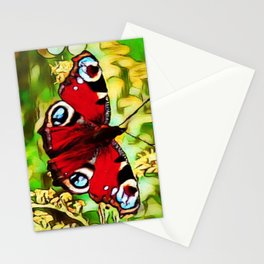 Peacock Butterfly Dream | Aglais io - Oil Painting Stationery Cards