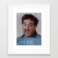 snl Framed Art Prints featuring Animal House (Food Fight) by lensebender