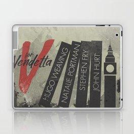 V fo r vendetta, minimal movie poster, Natalie Portman, Stephen Fry, film based on the graphic n Laptop & iPad Skin