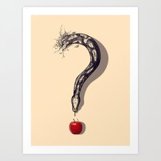 Curious Temptation Art Print