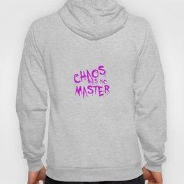 Chaos Has No Master Purple Graffiti Text Hoody