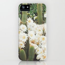 Cactus and Flowers iPhone Case