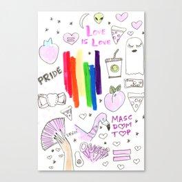 pride aesthetics lgbtqia rainbow Canvas Print