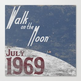 Walk on the Moon Canvas Print