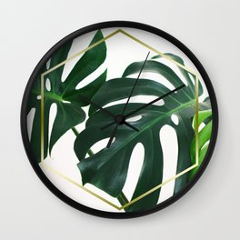 LUXE x Plant Life - Gold white planets lush Wall Clock