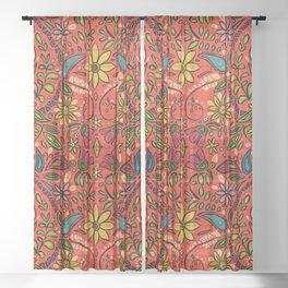 aziza fire Sheer Curtain