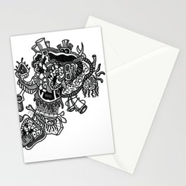 Abstract Style Corazón Crazy Stationery Cards