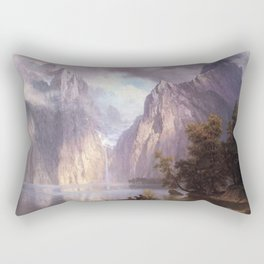 Scene In The Sierra Nevada By Albert Bierstadt | Reproduction Painting Rectangular Pillow