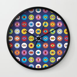 Colorful eyes Wall Clock