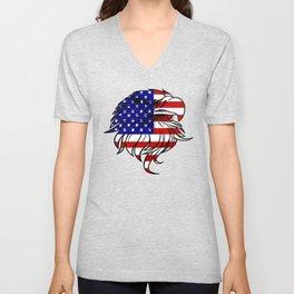 American Eagle - Patriot/Independence Day Unisex V-Neck